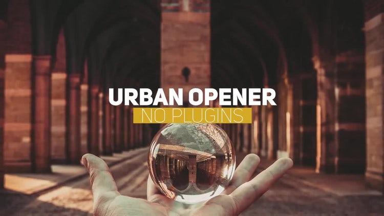 Urban clean opener: Premiere Pro Templates