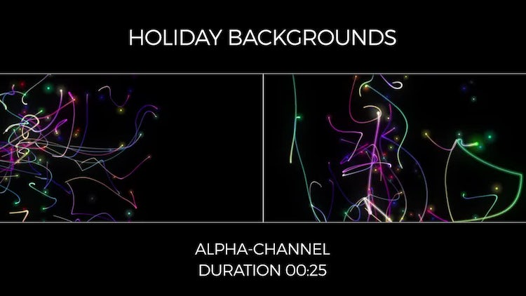 Holiday Backgrounds: Motion Graphics