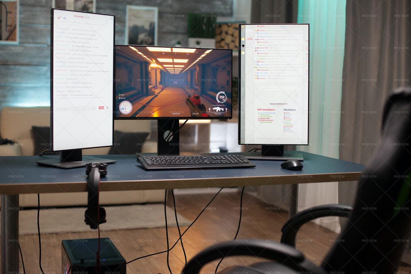 A Streamer's Workstation: Stock Photos