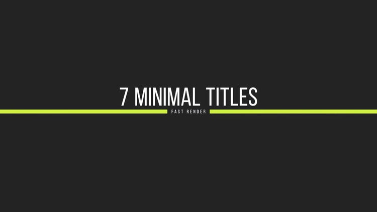 Simple Titles: Motion Graphics Templates