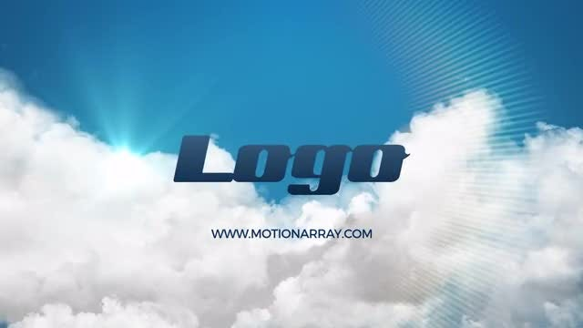 Light Clouds Logo Reveal: After Effects Templates