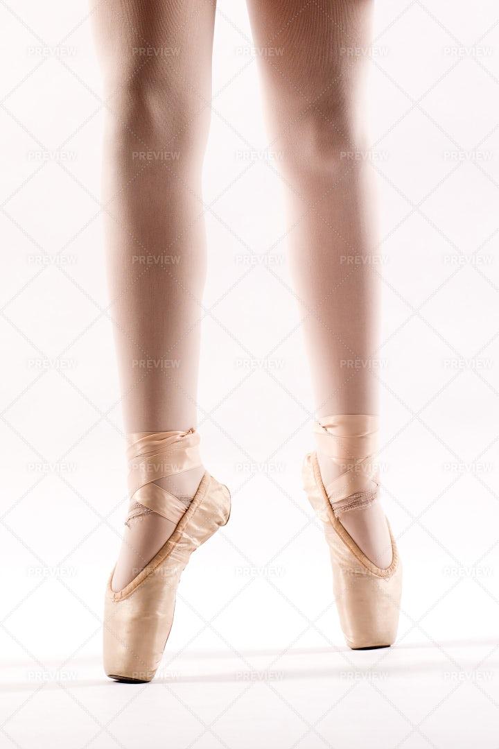Legs Of A Young Ballerina: Stock Photos