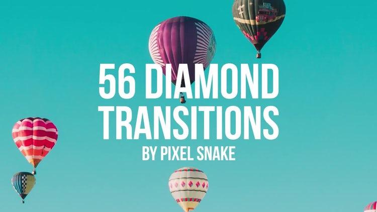 56 Diamond Offset Transitions: Premiere Pro Templates