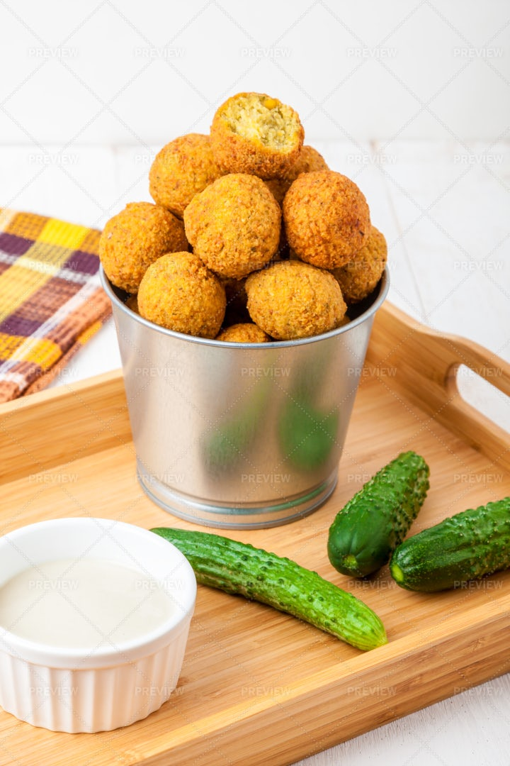 Homemade Falafel: Stock Photos
