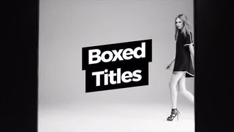 Boxed Titles: Motion Graphics Templates