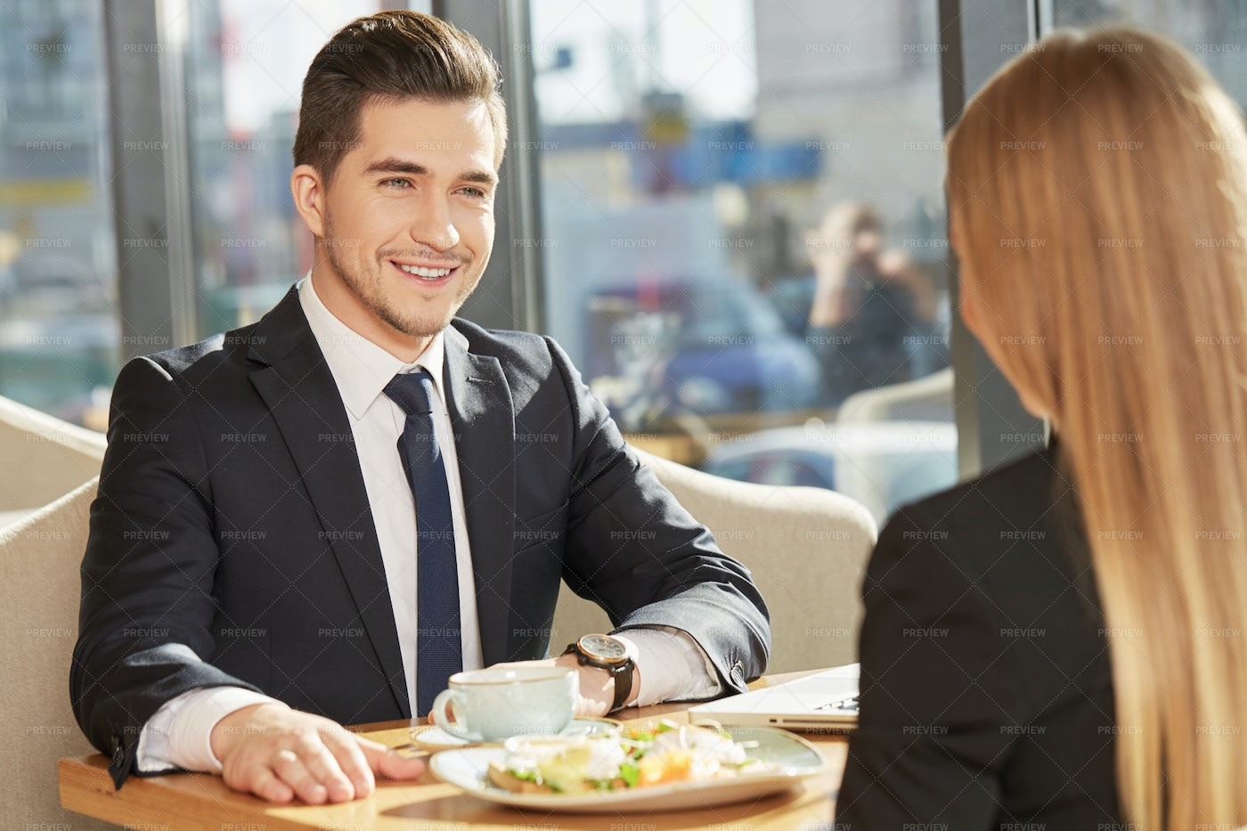 A Business Lunch: Stock Photos