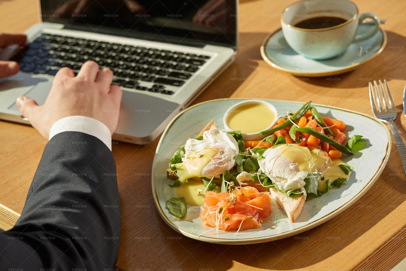 Delicious Business Lunch: Stock Photos