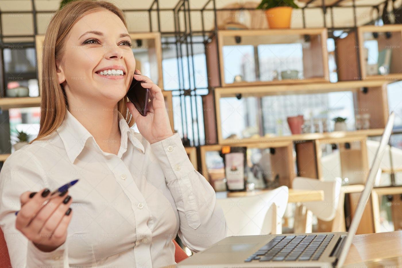 Successful Business Call: Stock Photos
