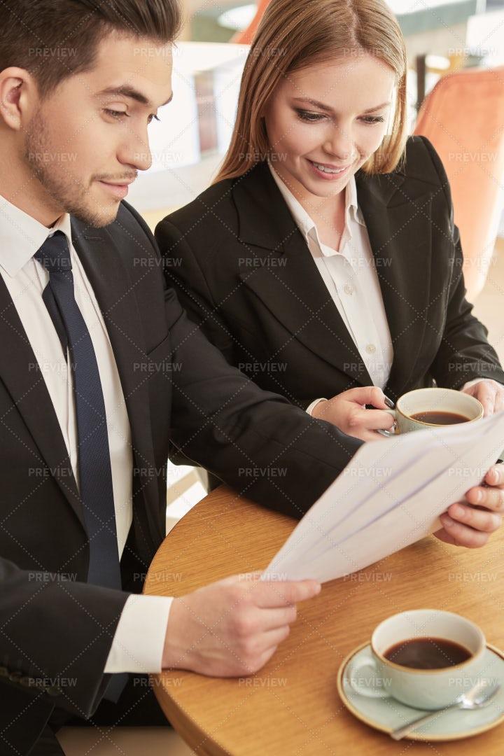 Partners Review Deal: Stock Photos