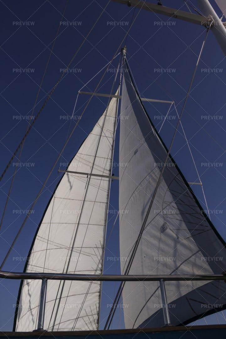 Sails Against A Blue Sky: Stock Photos