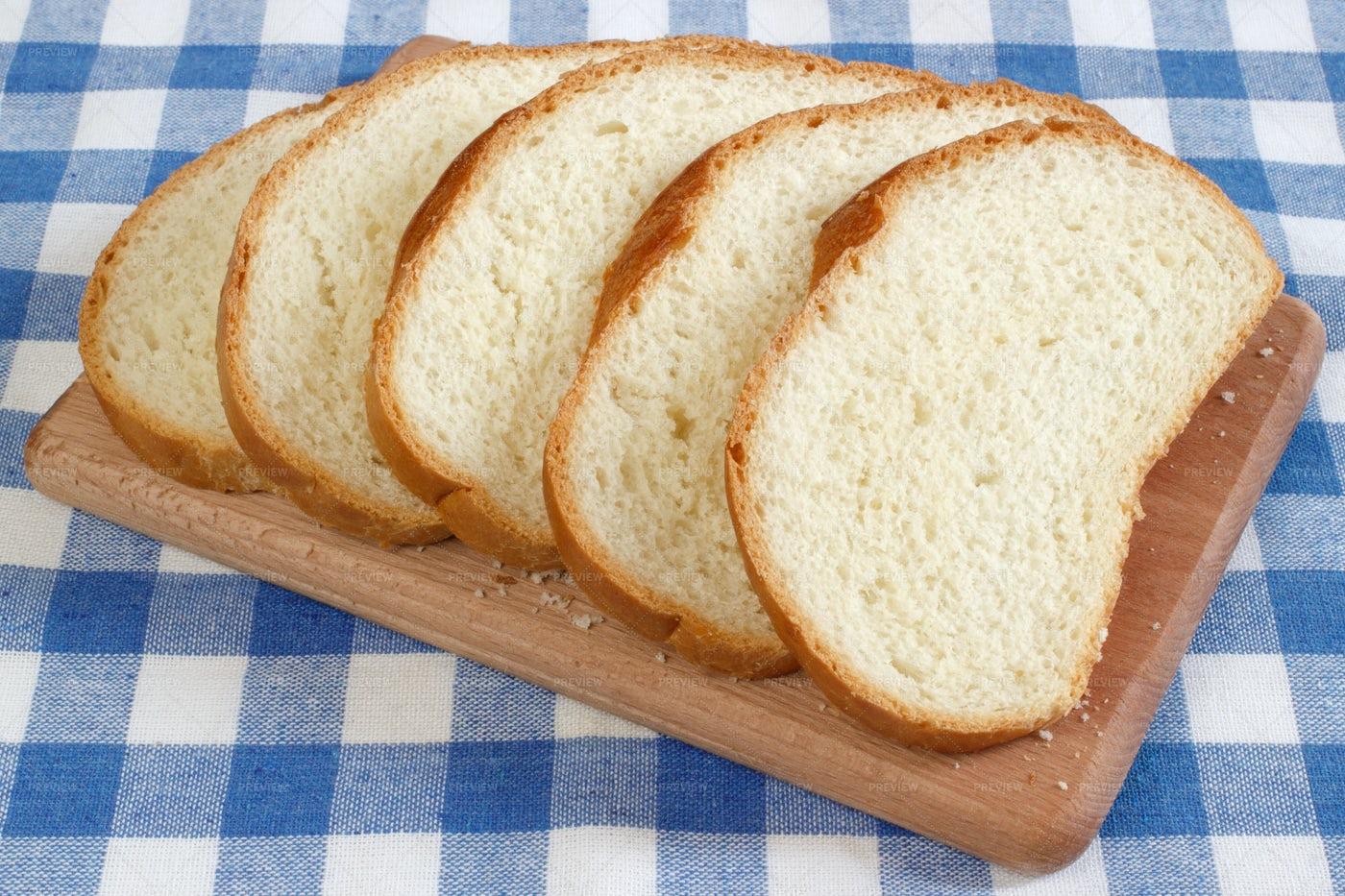 White Wheat Bread Sliced: Stock Photos