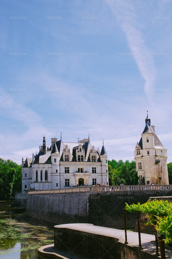 Historical Castle Of Chenonceau: Stock Photos