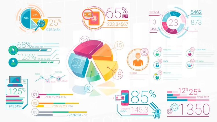 Colorful Corporate Infographic Elements: After Effects Templates