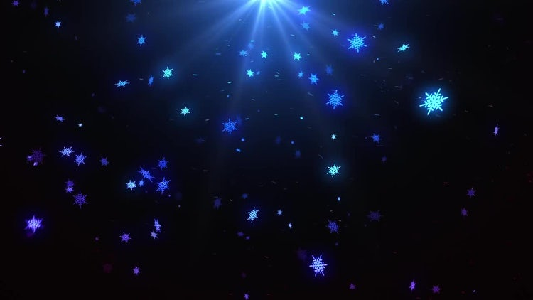 Night Snowfall: Stock Motion Graphics