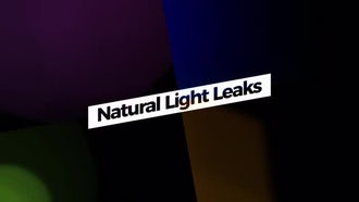 Natural Light Leaks: Motion Graphics Templates