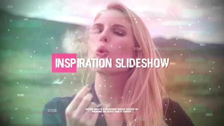 Stylish Glitch Slideshow: Premiere Pro Templates