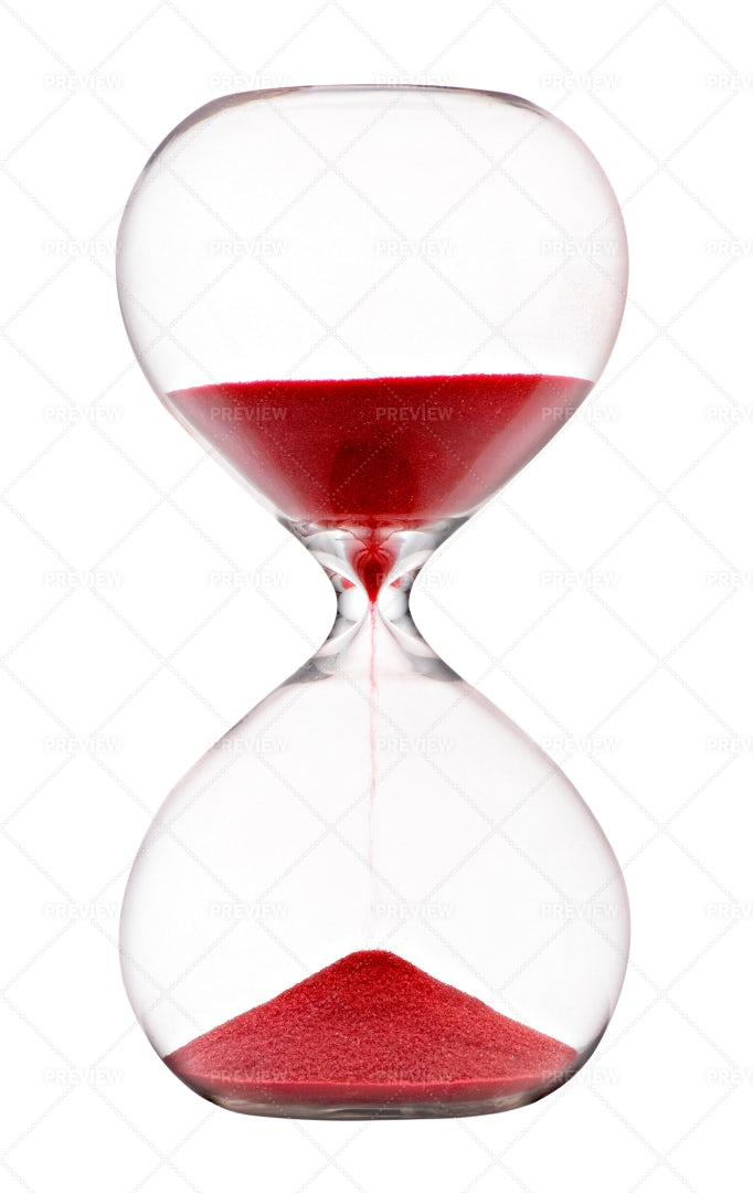 Red Sand In Hourglass: Stock Photos