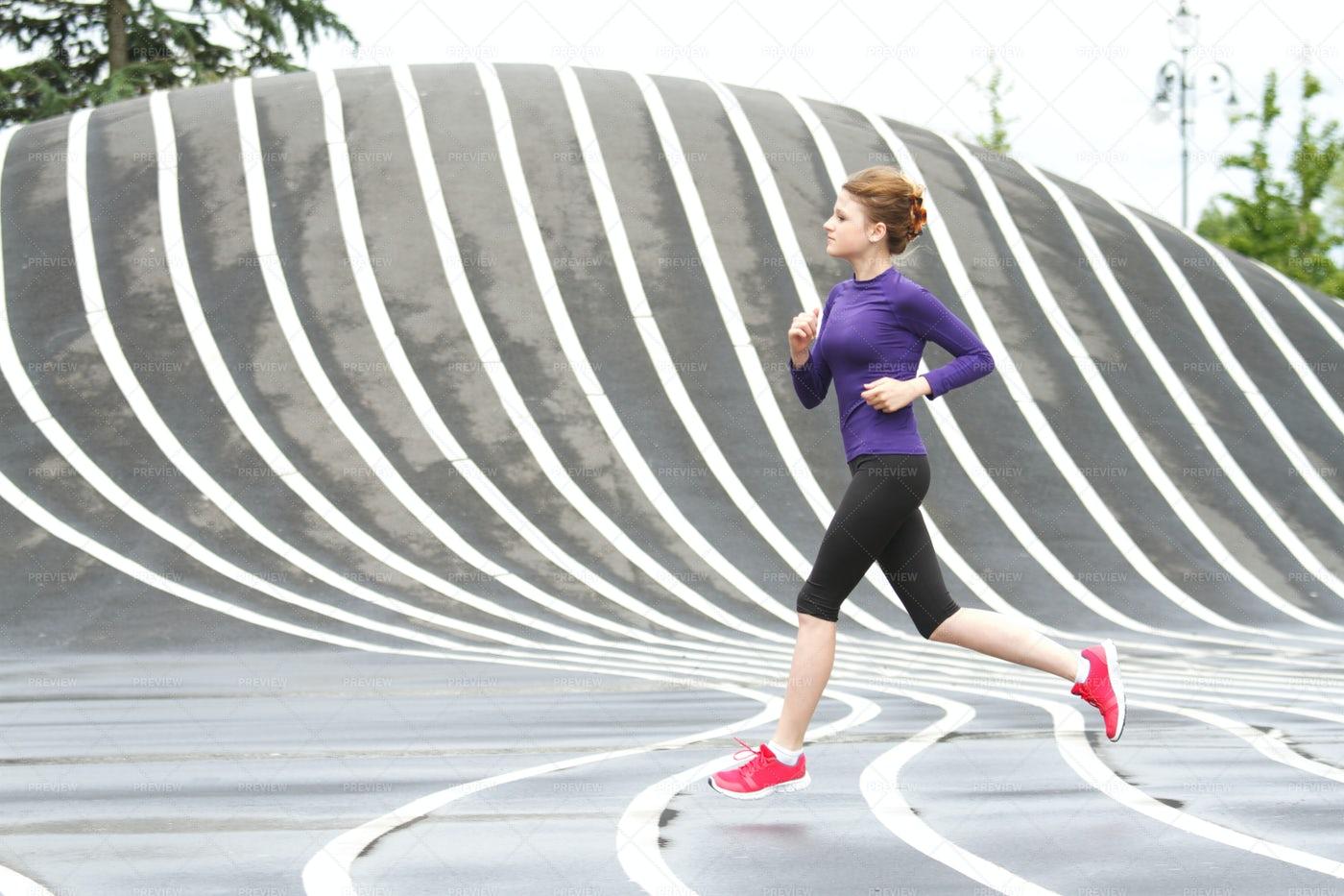 Running Through Park: Stock Photos