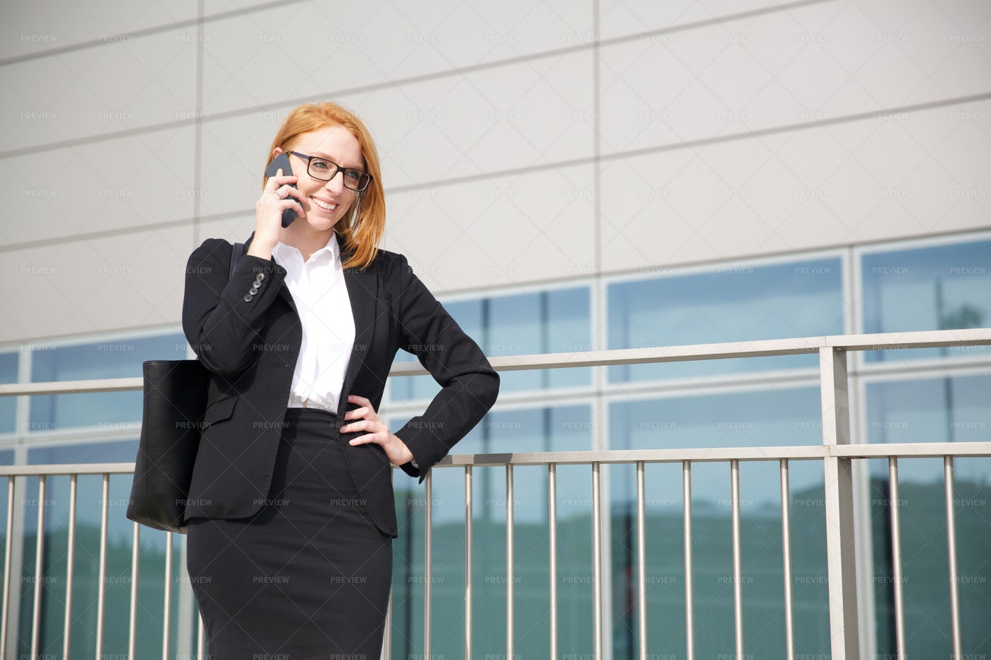 Phone Conversation: Stock Photos