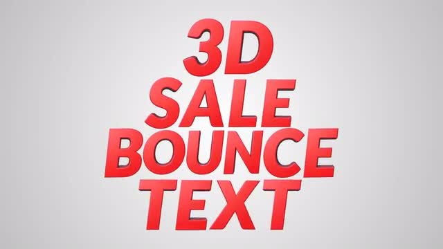 3D Sale Bounce Text: Stock Motion Graphics