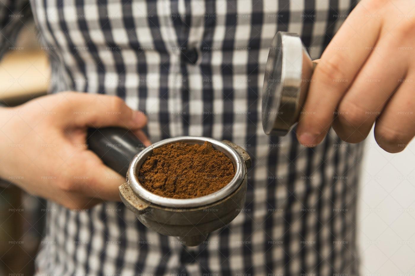 Barista Preparing Coffee: Stock Photos