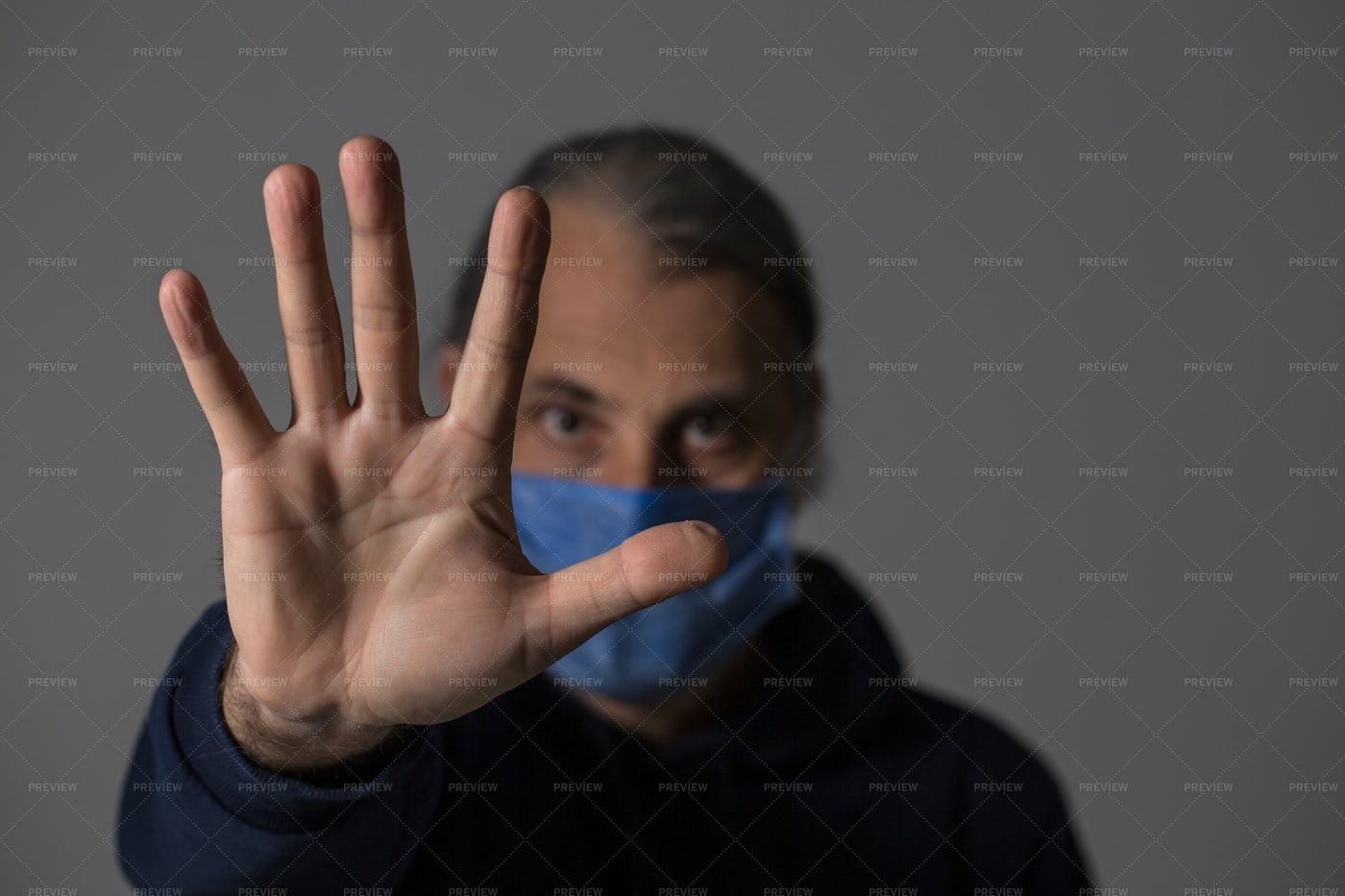 Man With Protective Mask: Stock Photos