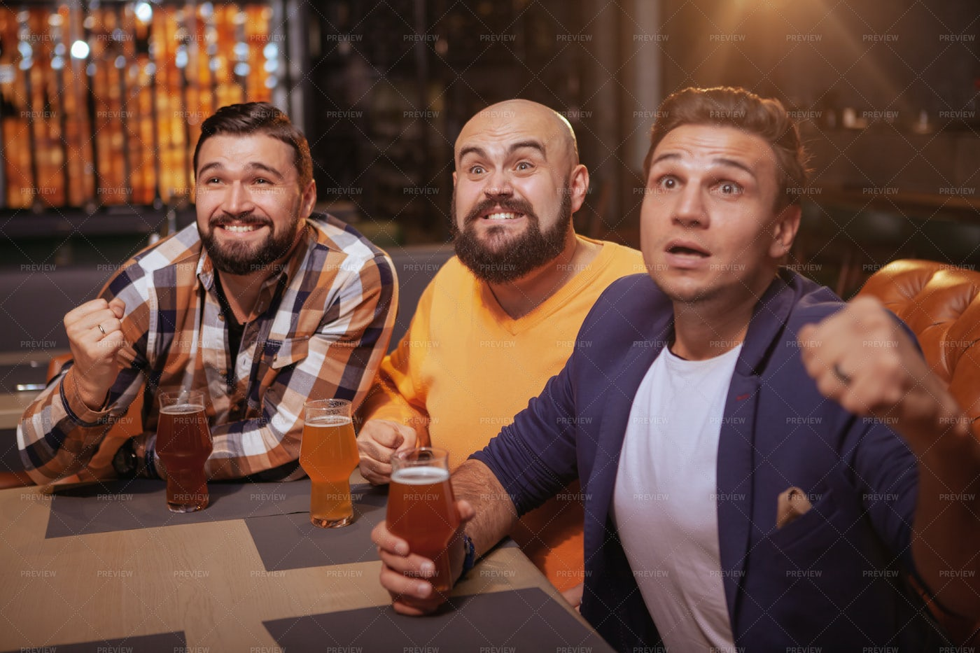 Friends Watching A Game: Stock Photos