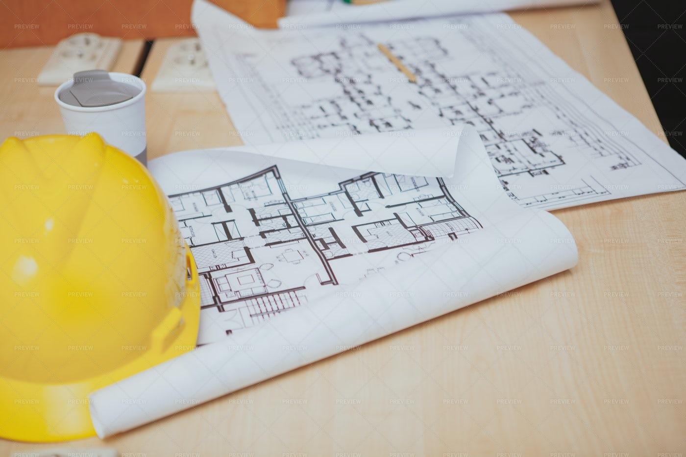 Architectural Blueprints: Stock Photos