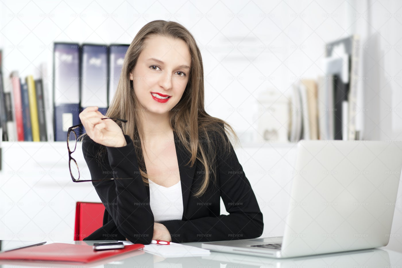 In The Home Office: Stock Photos