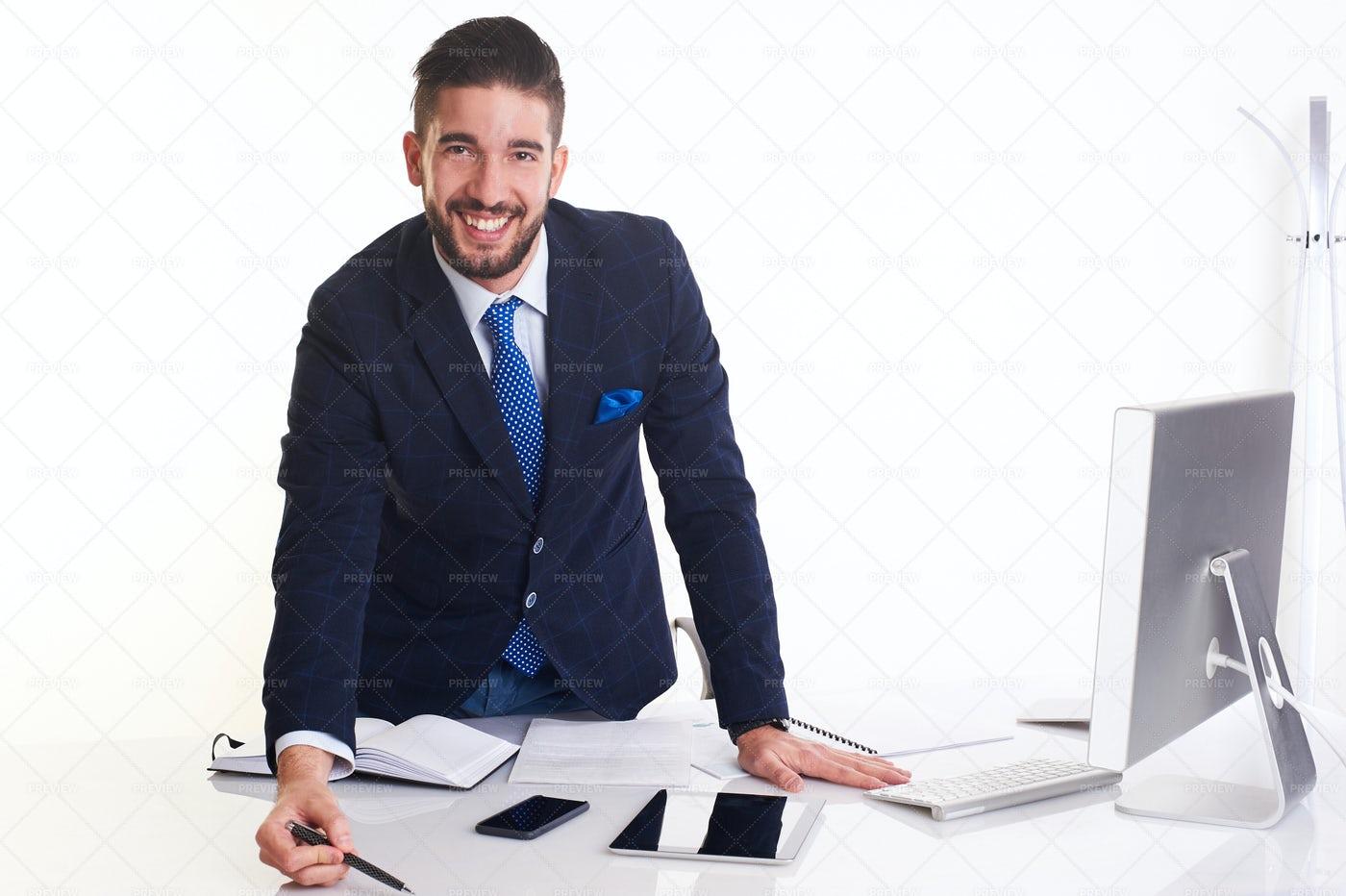 Businessman Working: Stock Photos