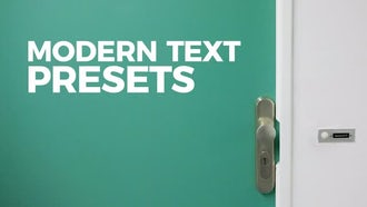 Modern Text Presets: Motion Graphics Templates