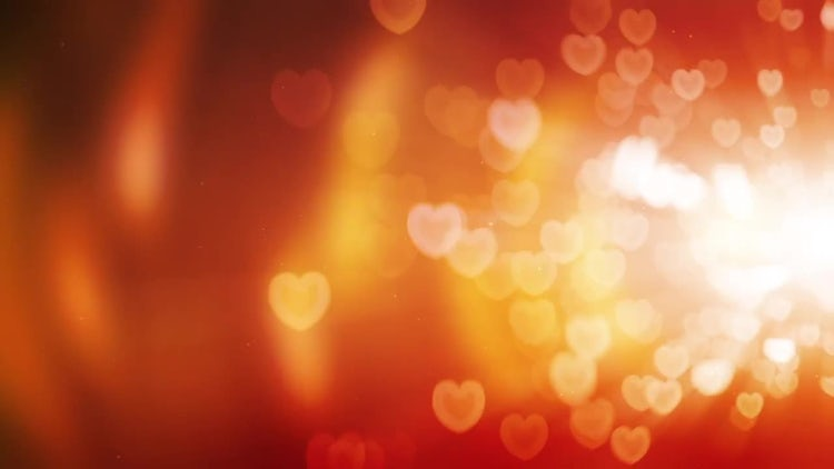 Glowing Hearts Background: Stock Motion Graphics