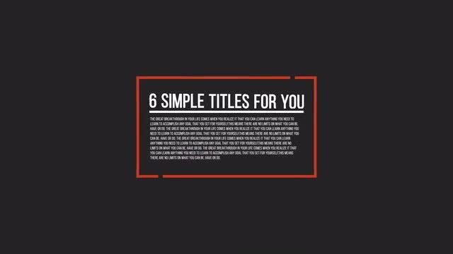 Minimal Titles: Motion Graphics Templates