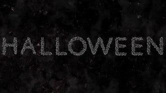 Halloween Alphabet From Skulls: Motion Graphics