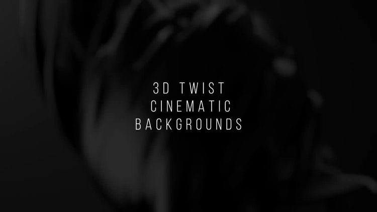 3D Twist Cinematic Backgrounds: After Effects Templates