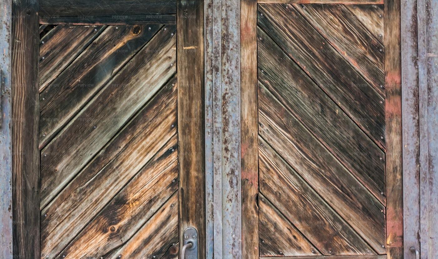 Old Metal And Wood Doors: Stock Photos
