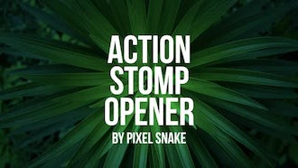 Fast Action Stomp Opener: Premiere Pro Templates
