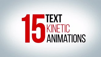 15 Awesome Kinetic Text Animations: After Effects Templates