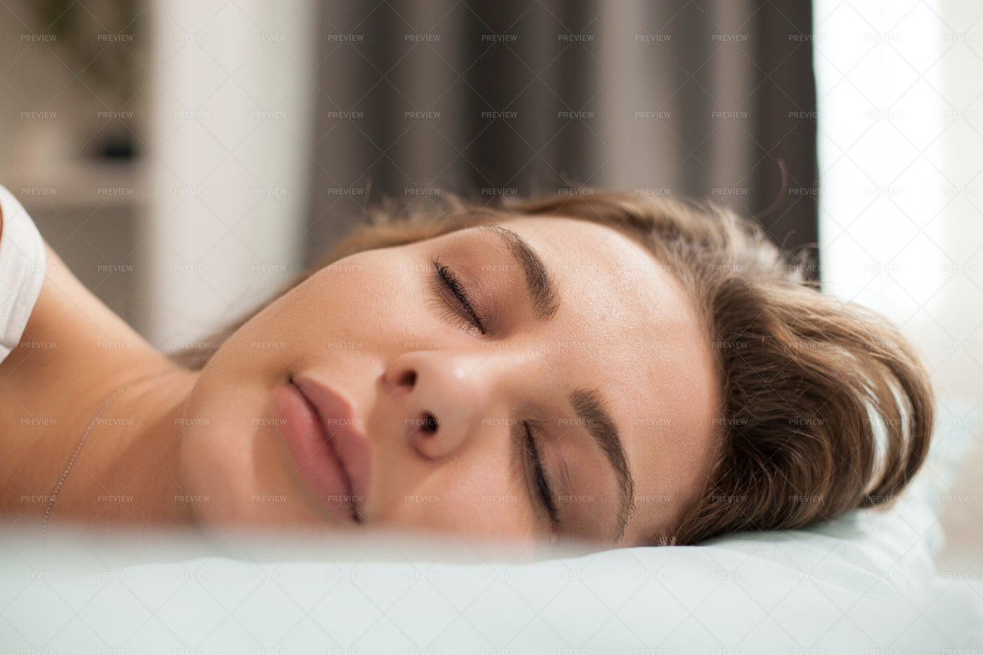 A Woman Sleeps: Stock Photos