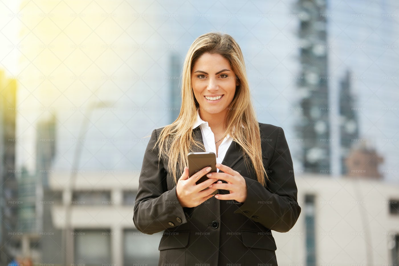 Doing Business Over The Phone: Stock Photos