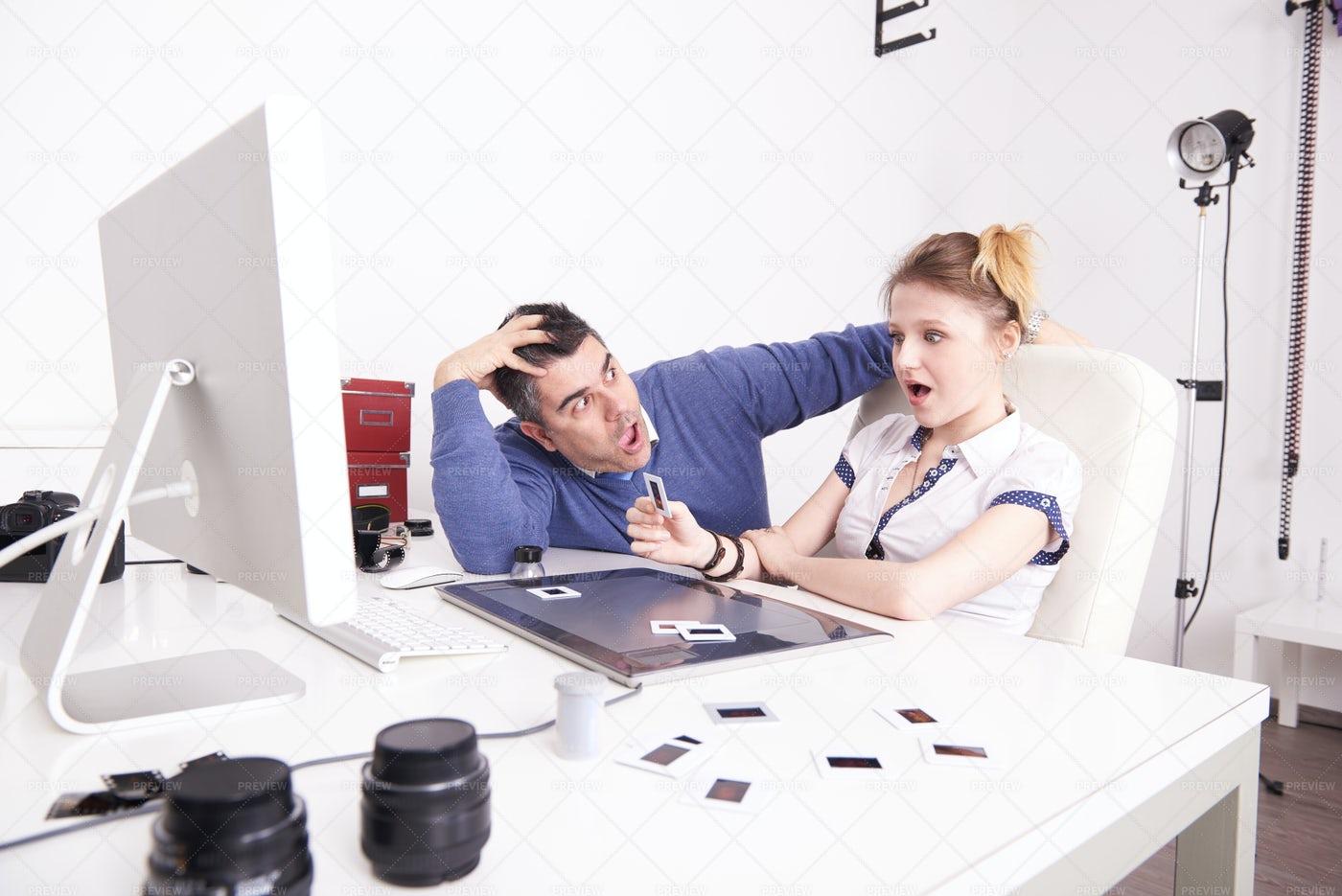 Photographers At Work: Stock Photos