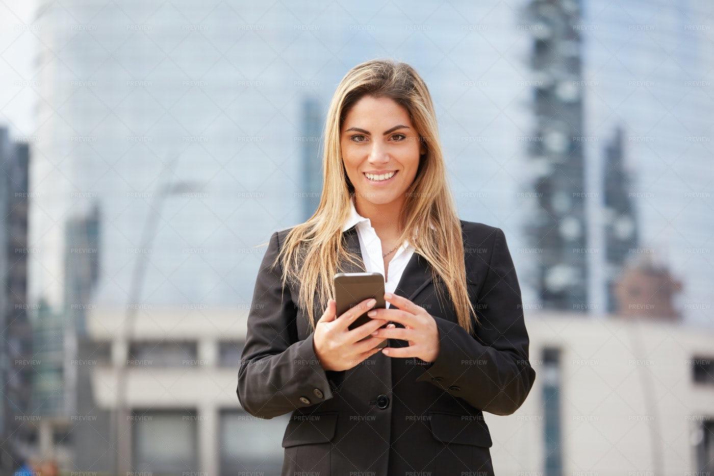 Businesswoman With Smartphone: Stock Photos
