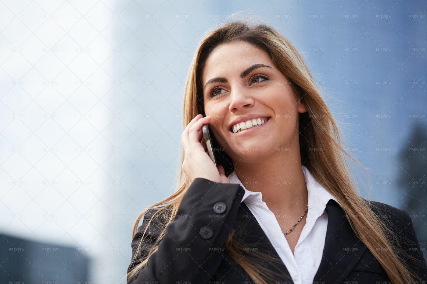 Businesswoman On Phone Call: Stock Photos