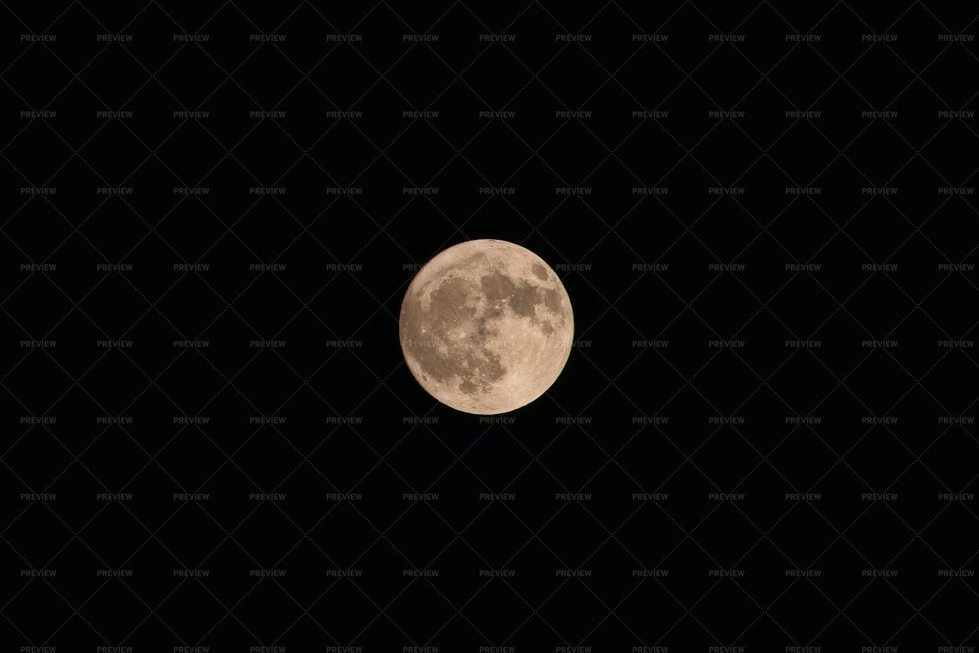 Full Yellow Moon: Stock Photos