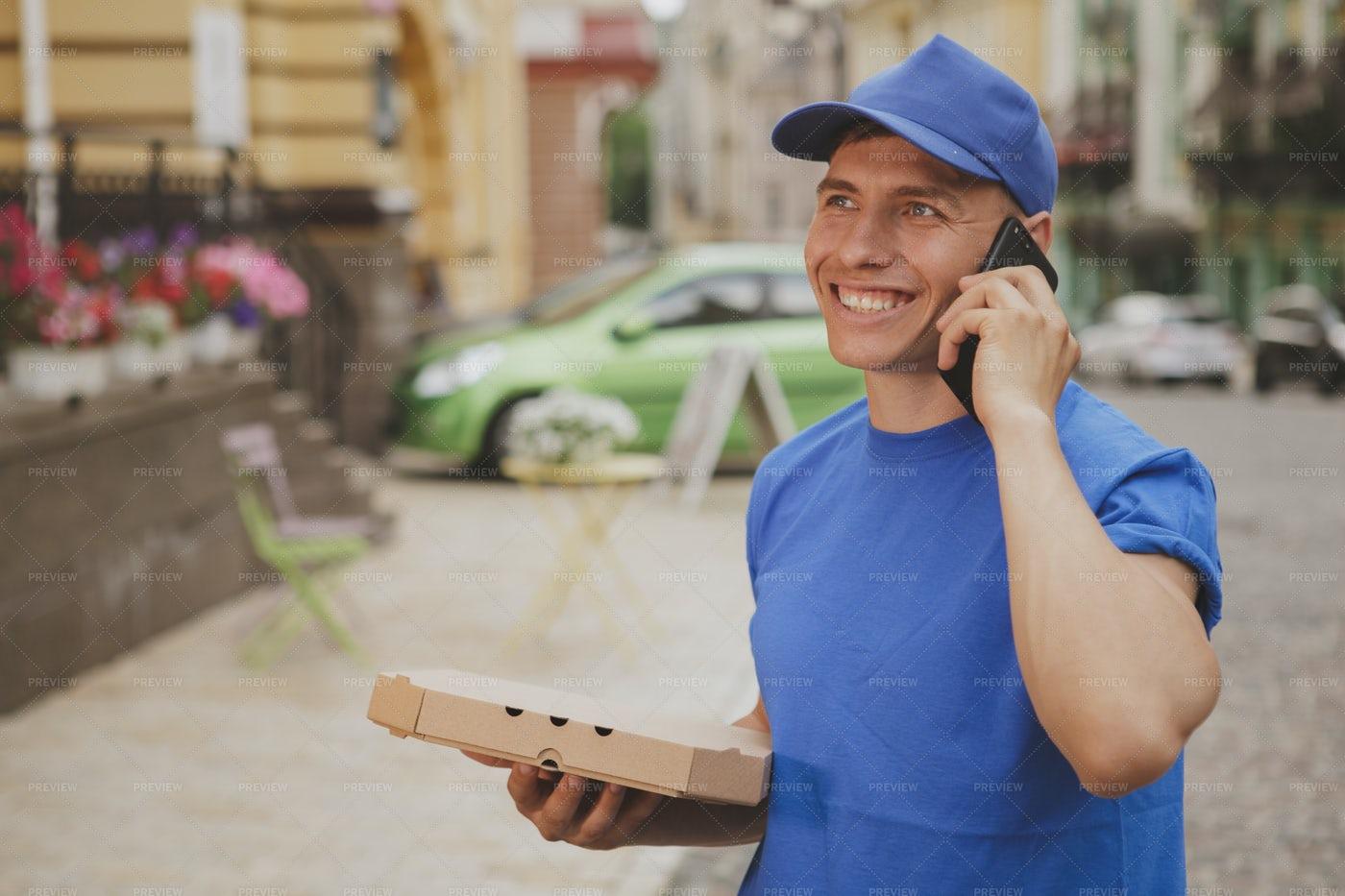 Delivery Man Portrait: Stock Photos