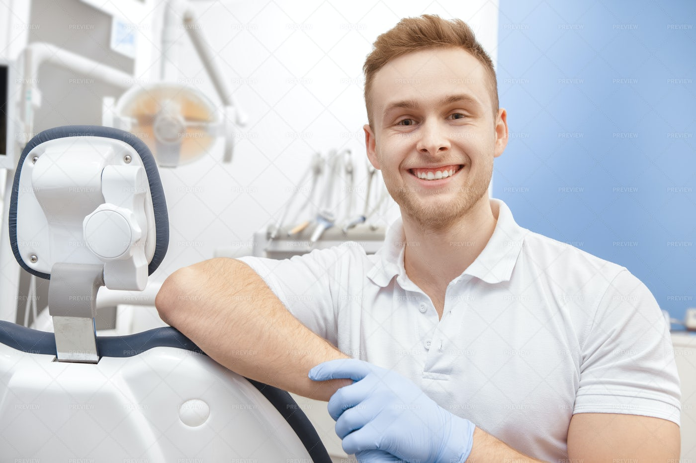 Dentist In His Clinic: Stock Photos