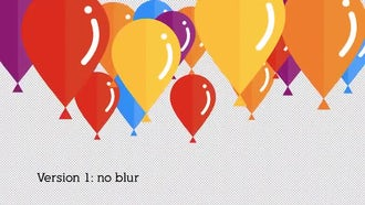 Flat Baloon Transition: Stock Motion Graphics