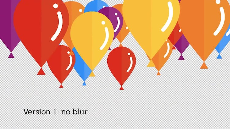 Flat Baloon Transition: Stock Motion Graphics