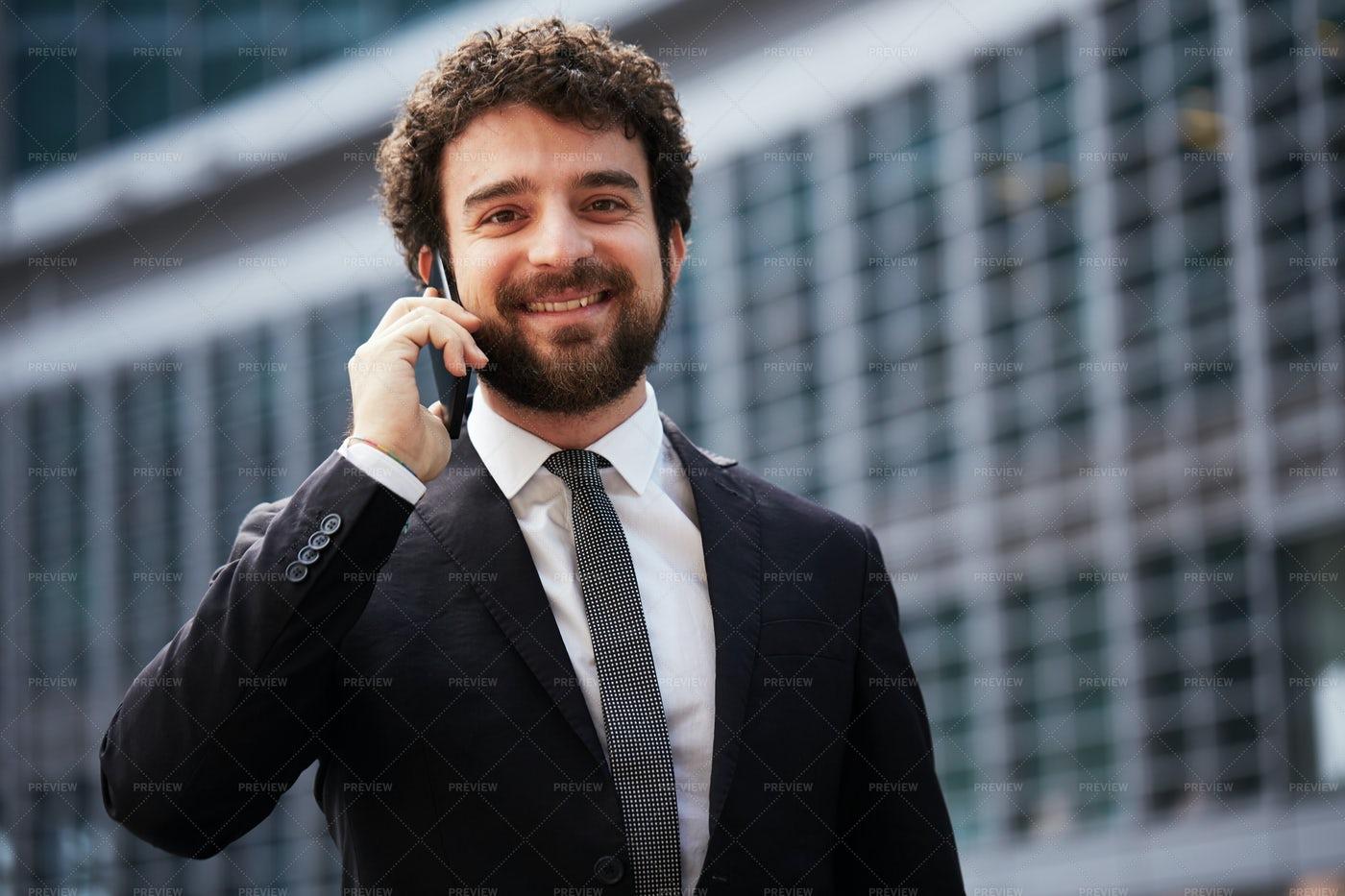 A Business Call: Stock Photos