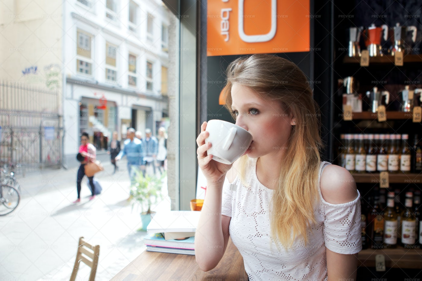 Taking A Sip Of Coffee: Stock Photos
